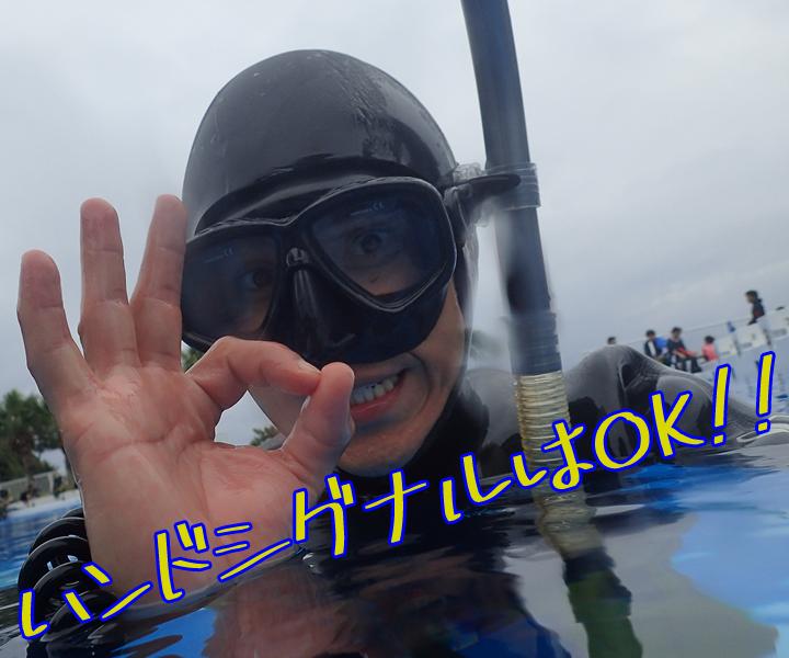 ハンドシグナルはOK!!